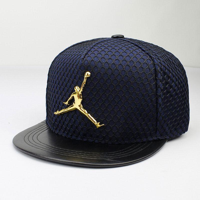 mũ lưỡi trai snapback jordan phối lưới màu xanh đen
