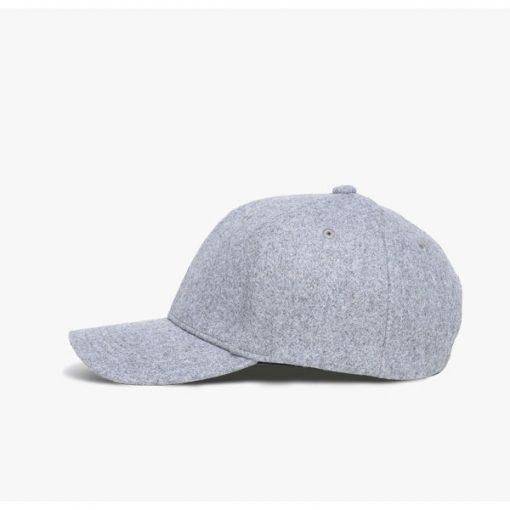 mũ lưỡi trai atlantic classic dạ màu xám nhạt