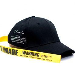 mũ lưỡi trai satin classic màu đen