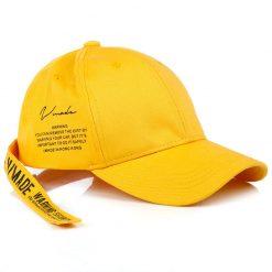 mũ lưỡi trai satin classic vàng