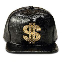 mũ kết Snapback Dollar Cap màu đen