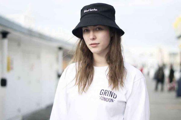 mũ bucket đen
