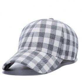 kiểu mũ đẹp lưỡi trai caro Garansi classic trắng xám