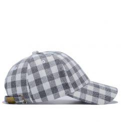 mũ lưỡi trai caro Garansi classic trắng xám nghiêng