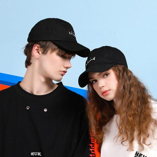 các kiểu mũ sang trọng mũ lưỡi trai đen Classic Couple Morning cặp nam nữ