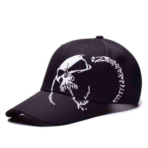 mũ lưỡi trai đen thêu skull nam nữ đẹp