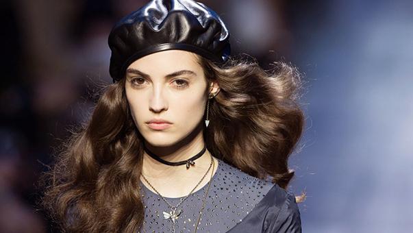 mũ beret nữ bằng da