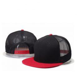 mũ snapback lưới đen đỏ