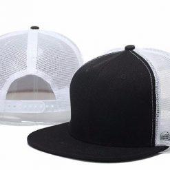 mũ snapback lưới đen trắng
