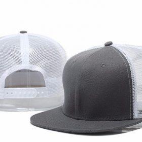 mũ snapback lưới xám trắng