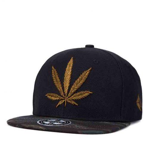 mũ snapback lá cần sa Camouf Leaf Snapback