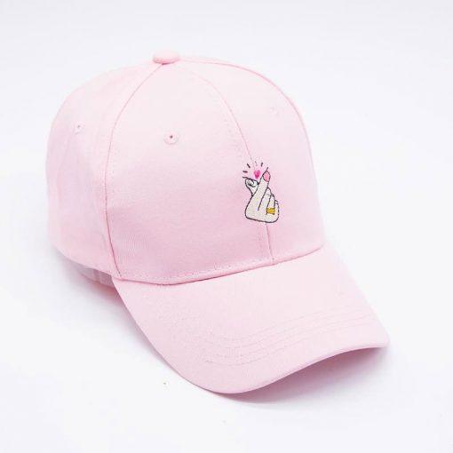 mũ lưỡi trai nữ Heart React Pink màu hồng