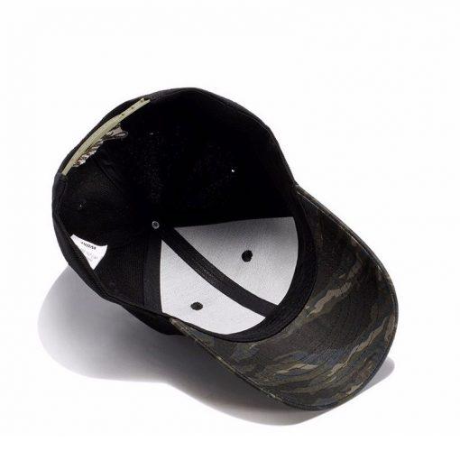 mũ lưỡi trai Hemp Leaf thêu chiếc lá