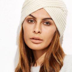 mũ len trắng kem bohemian nữ