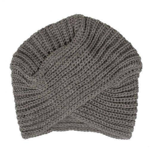 mũ len xám bohemian nữ