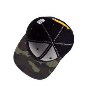 mũ snapback Camouf Leaf màu đen lá vàng