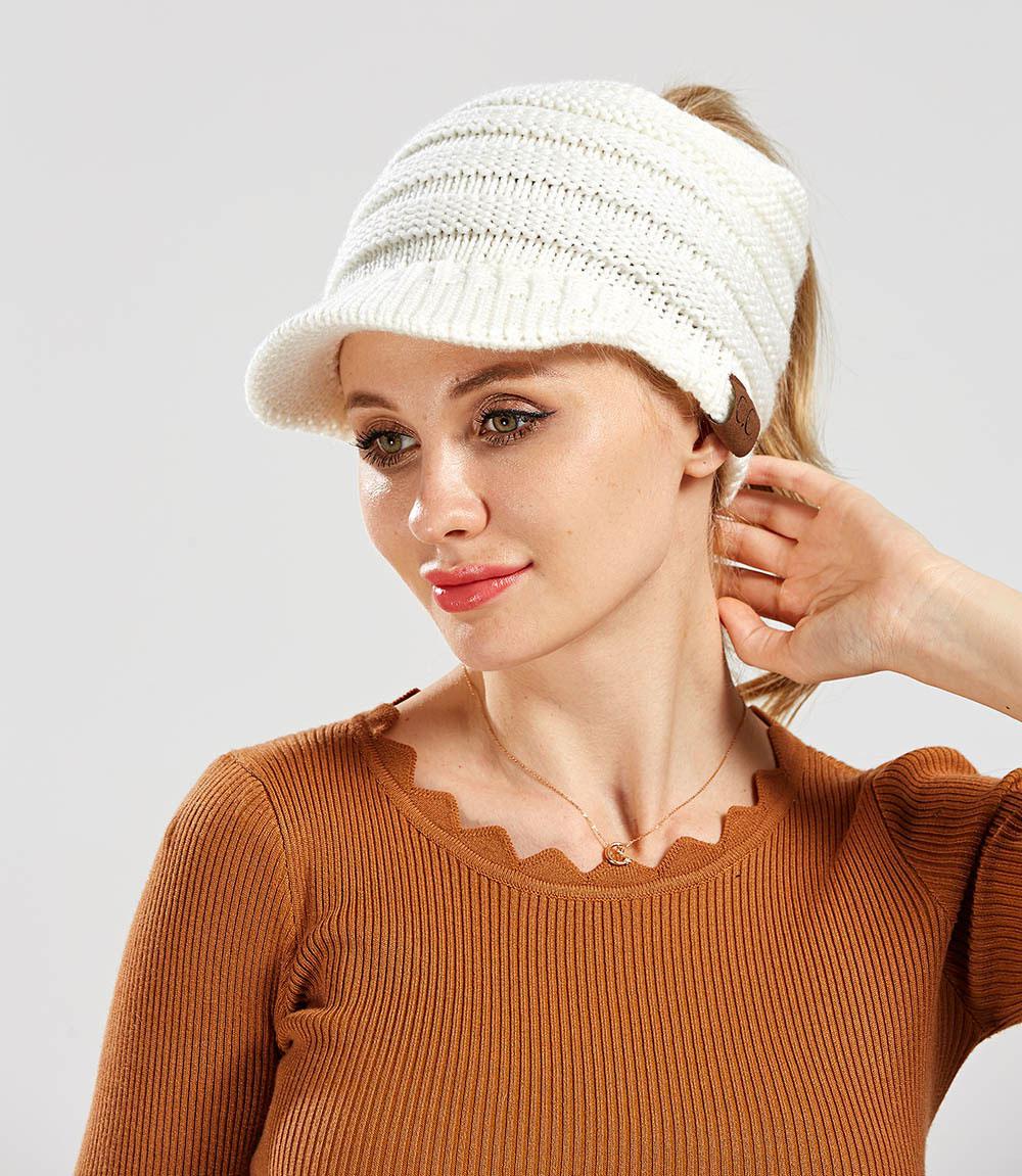 mũ len beret nữ Hya Be màu kem