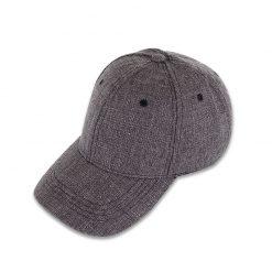 mũ lưỡi trai linen gray màu xám