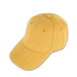 mũ lưỡi trai linen yellow màu vàng