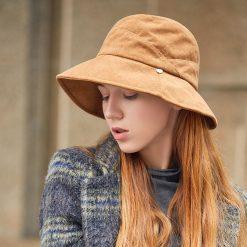 mũ tai bèo Fanny Pack Bucket Hats màu da bò
