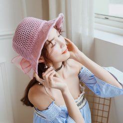 mũ tai bèo safari bucket hats hồng phấn