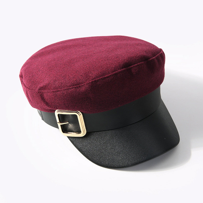 mũ baker boy Gorras đỏ đậm