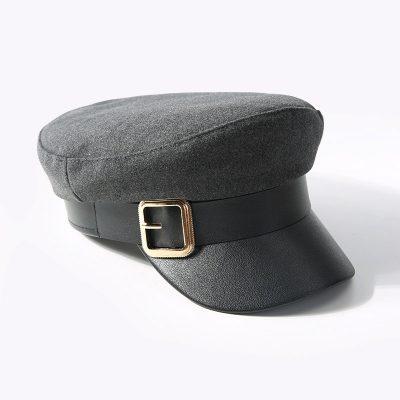 mũ baker boy Gorras xám