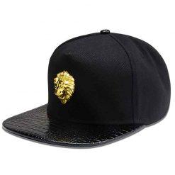 mũ snapback nam nữ lion head 3d màu đen