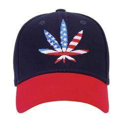 mũ lưỡi trai đỏ đen usa cannabis