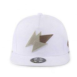 mũ snapback whiten Triangle trắng thêu hoạ tiết
