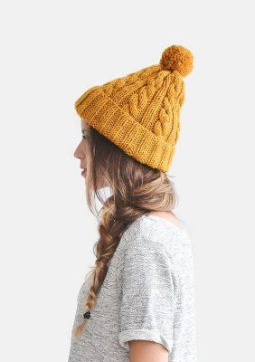 mũ len vàng