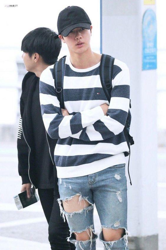 Jin-BTS mũ lữoi trai