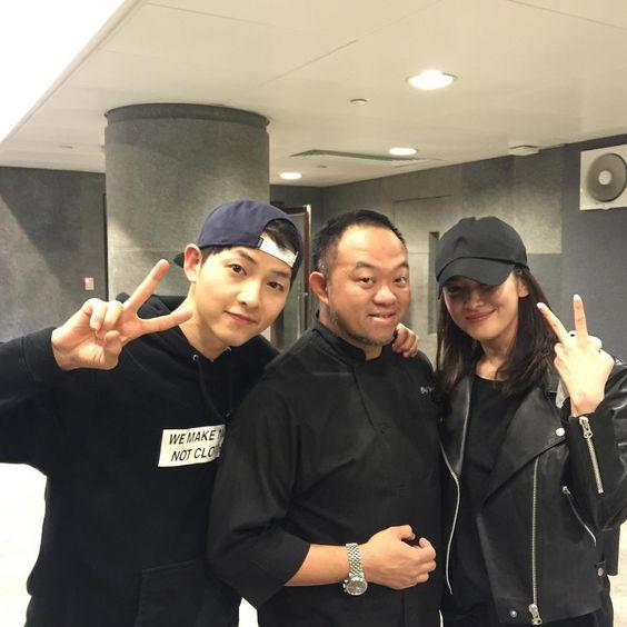 mũ lữoi trai song-jong-ki-Song Hye Kyo