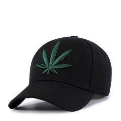 mũ lưỡi trai Patch Leaf Black Green