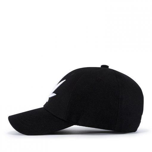 mũ lưỡi trai Patch Leaf Black white đen trắng