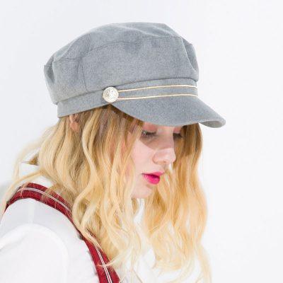 mũ baker boy nữ cabbie xám