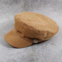 mũ baker boy nữ cabbie nâu vàng