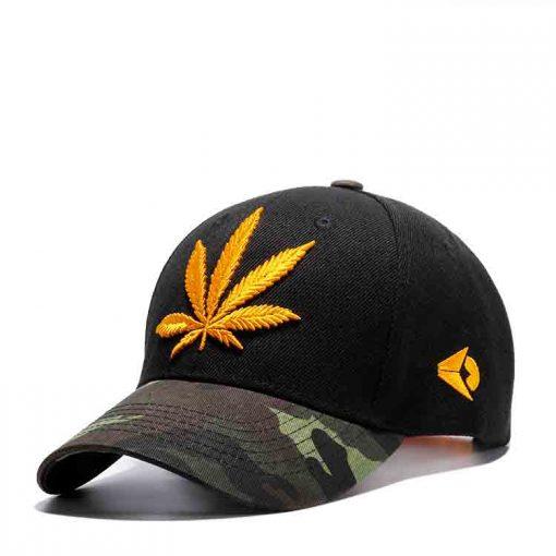 mũ lưỡi trai hemp leaf golden