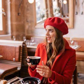 mũ beret đỏ đẹp