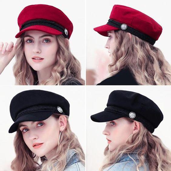 mũ baker boy nữ