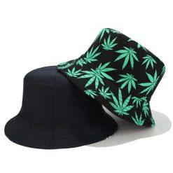 mũ bucket lá xanh