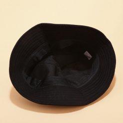 mũ bucket Cross Lace đen dây cam