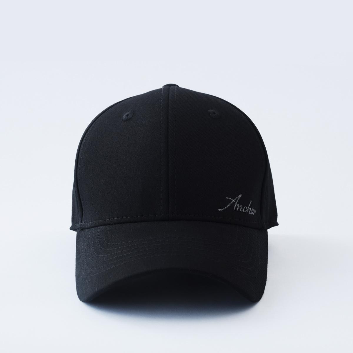 mũ lưỡi trai nam nữ đẹp bít đuôi anchor and helm đen