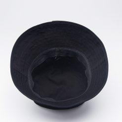 mũ bucket nữ simple blacket đen mặt trong