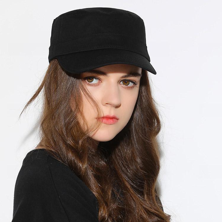 mũ lưỡi trai chóp phẳng flat top màu đen nữ đẹp