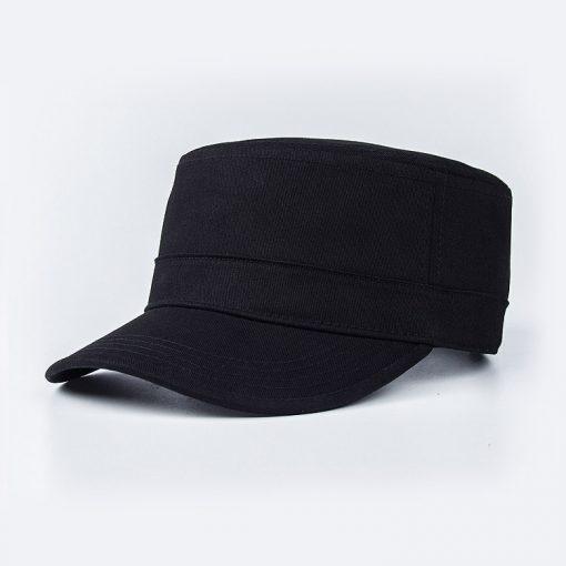 chi tiết kiểu mũ đẹp lưỡi trai nữ flat top đen