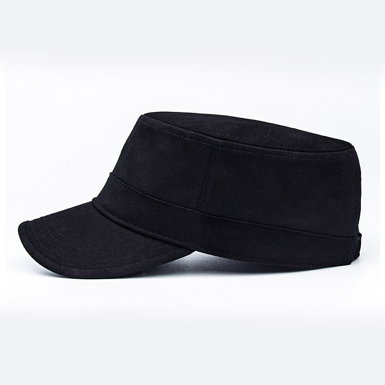chi tiết mũ lưỡi trai nữ flat top đen