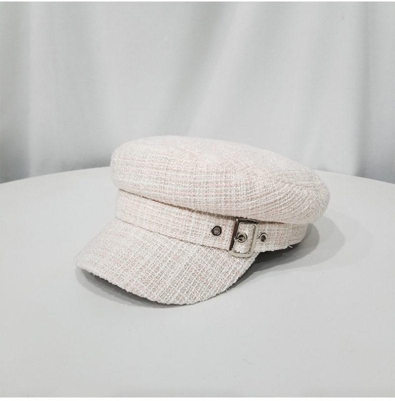 Mũ bakerboy đẹp White stripie