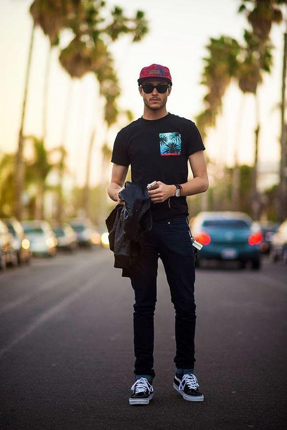 thời trang với mũ snapack