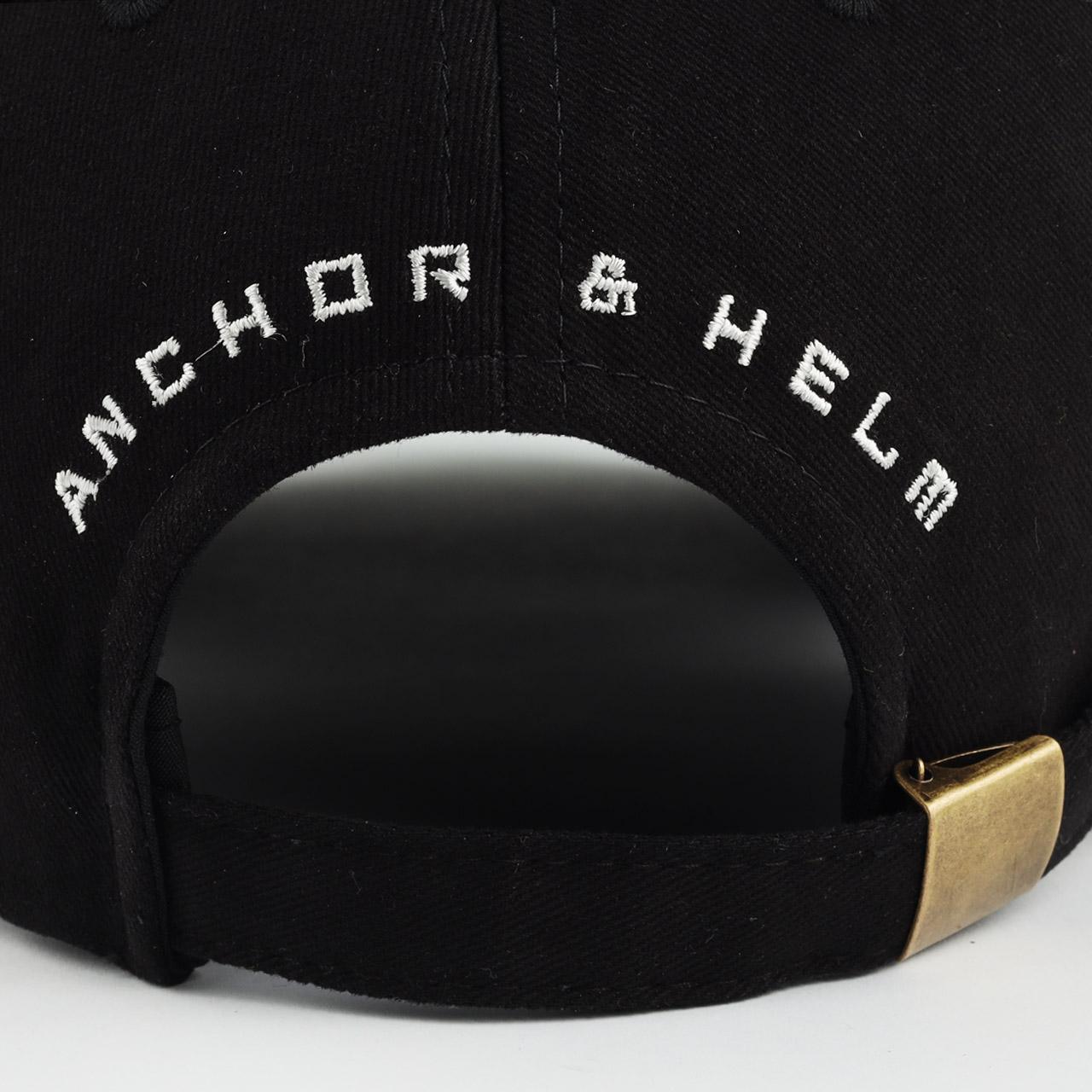 mũ lưỡi trai đen hàng hiệu anchor and helm